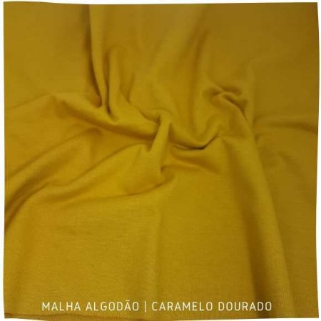 Malha Algodão Dourado Caramelo 50x1,80m (tubular)