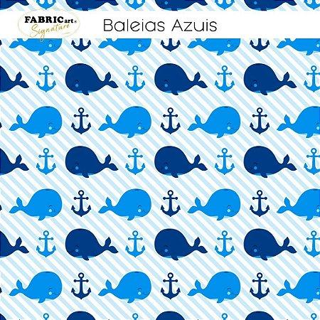 Tricoline Baleias Azuis  50cmX1,40m largura