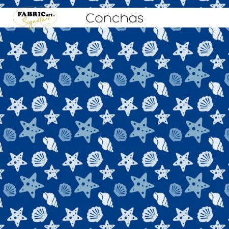 Tricoline Conchas  50cmX1,40m largura