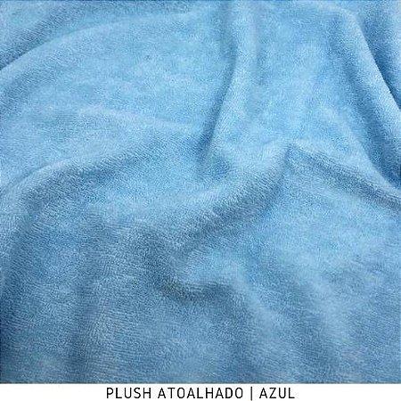 Plush Atoalhado Azul bebê 50cm x 1,70m