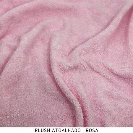 Plush Atoalhado Rosa bebê 50cm x 1,70m
