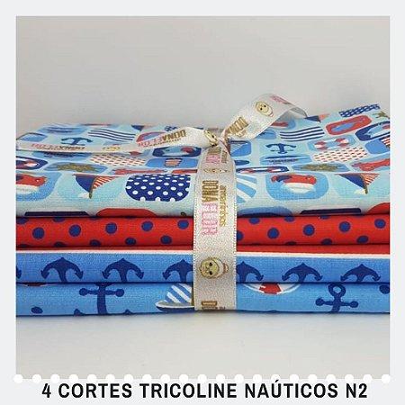 4Cortes Tricoline 100% Algodão Náutica Nº2