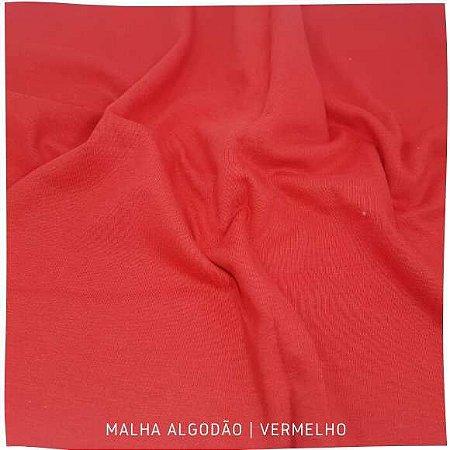 Malha 100%Algodão Penteada Vermelho 50cm x 1,80m (tubular)