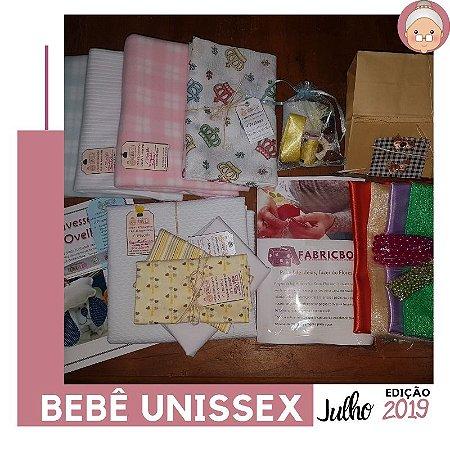 FABRICBOXdonaFlor Kit Bebê Unissex - Julho 2019