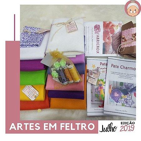 FABRICBOXdonaFlor Artes em Feltro - Julho 2019