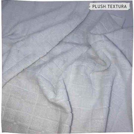 Plush Textura Quadrados Branco 50cmx1,70m