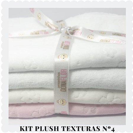 Kit Plush  textura Nº4 4tecidos 30x80cm