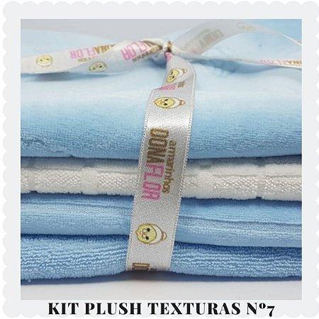 Kit Plush  textura Nº7 4tecidos 30x80cm