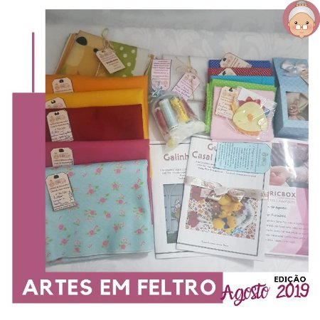 FABRICBOXdonaFlor Artes em Feltro - Agosto 2019 -