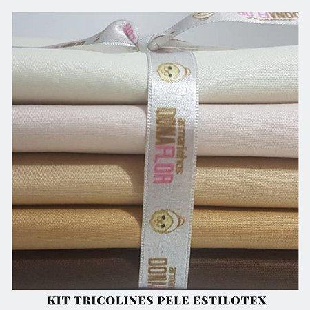 Kit Tricoline Pele Boneca Estilotex | 5  tecidos 50x70cm