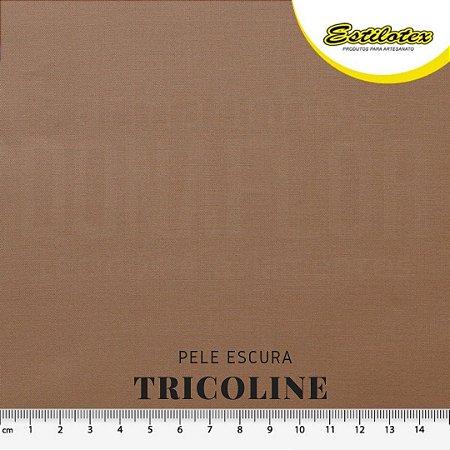 Tricoline 100%Algodão Bege Escuro 50cmx 1,50m Estilotex