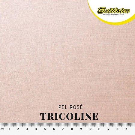 Tricoline 100%Algodão Pele Rosê 50cm x 1,50m Estilotex