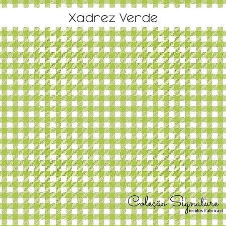 Tricoline Xadrez Verde  50cmX1,40m largura
