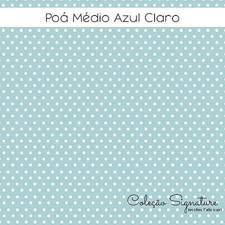 Tricoline Poá Azul Claro  50cmX1,40m largura