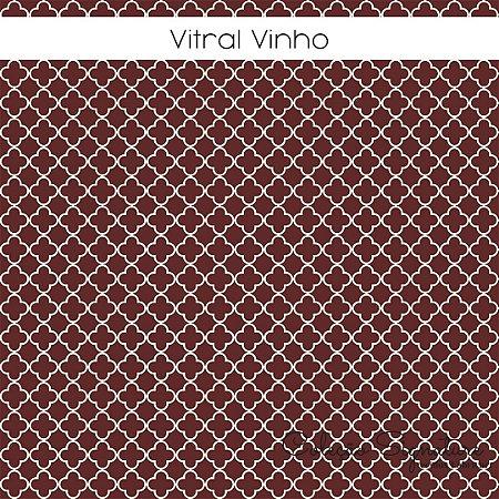 Tricoline Vitral Vinho 50cmX1,40m largura