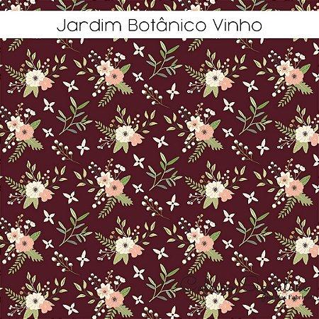 Tricoline Jardim Botânico Vinho 50cmX1,40m largura