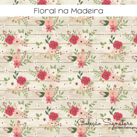 Tricoline Flores na Madeira 50cmX1,40m largura