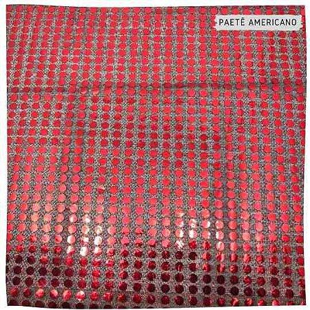 Paetê Americano Vermelho Fundo Preto 50cm x 1,12m
