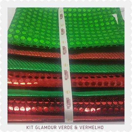 Kit Glamour Vermelho e Verde