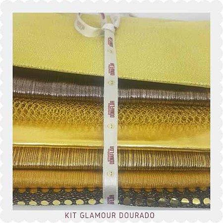 Kit Glamour Dourado