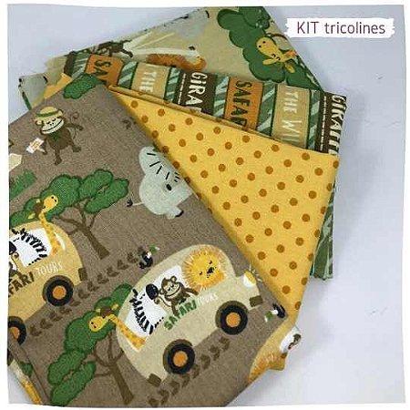 Kit Tricoline Safari   N1 | 4 Tecidos 20x140cm