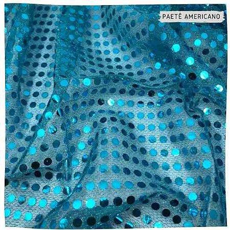 Paetê Americano Azul  Turquesa  50x1,10m