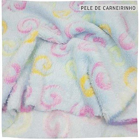 Pele de Carneiro Caracóis Azul  50x1,60m