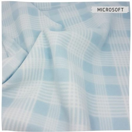 Microsoft Estampado Xadrez Azul 50cmX1,60m