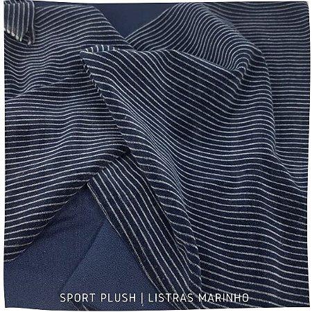 Plush Sport  Azul Listra Branca 50cm x 1,70m