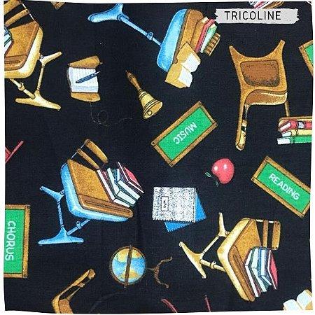 Tricoline Mundo Dos Livros  50cmX1,40m