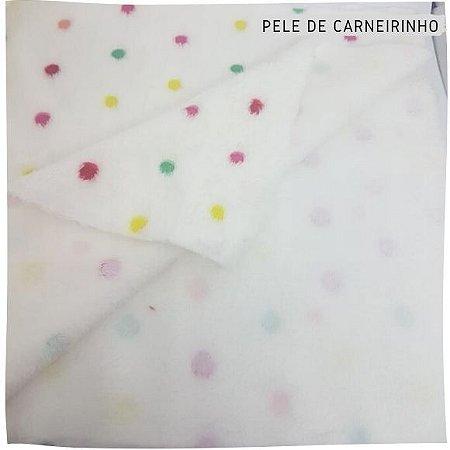 Pele Carneirinho poa coloridos 50cmx1,60m