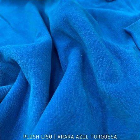 Plush Liso Azul Turquesa Arara 50cmx1,70m