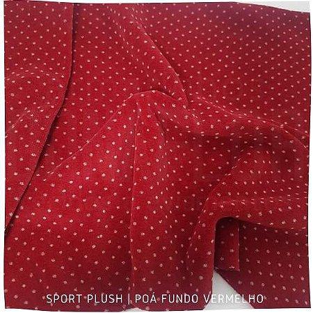 Plush Sport Vermelho Poá 50cm x 1,70m