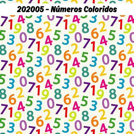 Tricoline Números Coloridas 50cm x 1.50m largura
