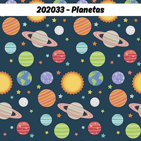 Tricoline Planetas 50cm x 1.50m largura