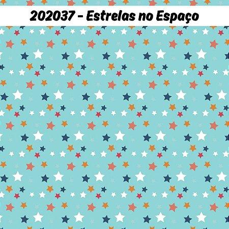 Tricoline Estrelas no Espaço 50cm x 1.50m largura