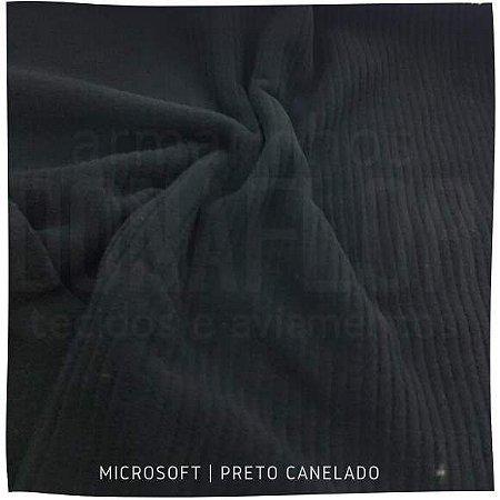Microsoft Canelado Preto 50X1,50cm