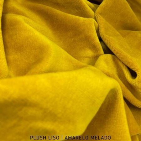 Plush Liso Amarelo Melado 50cm x 1,70m