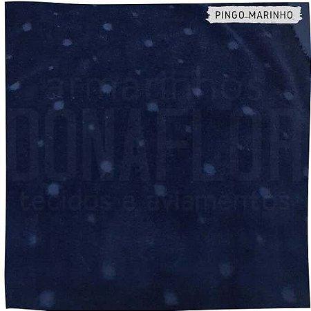 Plush Textura Pingo Poás Irregulares Marinho 50cm x1,70m