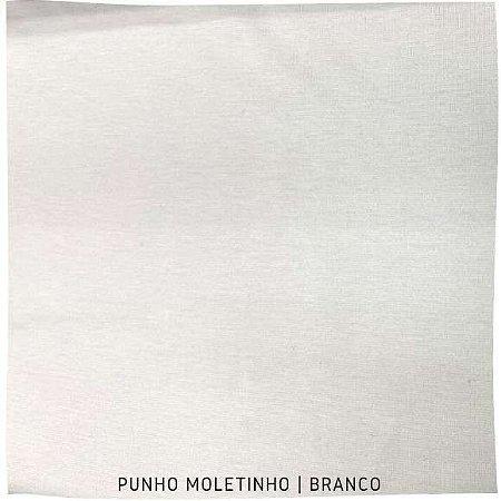 Punho Ribana Moletinho Branco 30cm x 65cm (tubular)