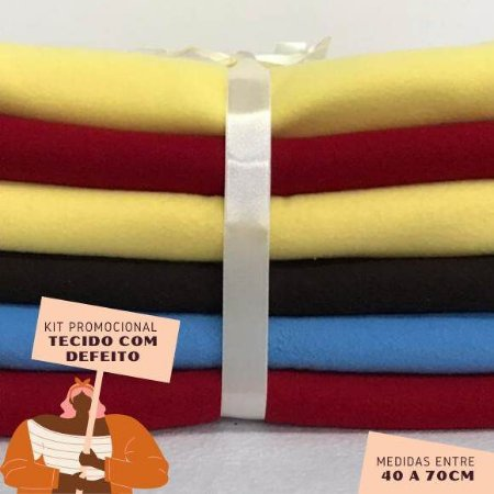 Kit12 Tecidos Soft Pesado com Defeito 40 a 70cm