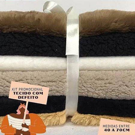Kit13 Tecidos Pelúcia com Defeito 40 a 70cm