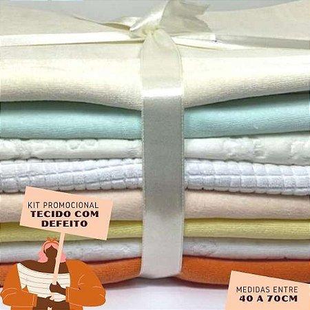 Kit18 Tecidos Plush com Defeito 40 a 70cm