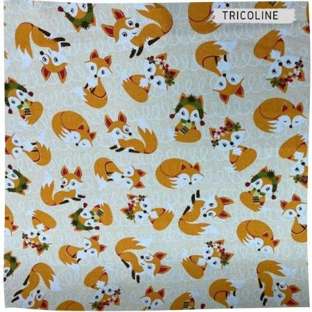 Tricoline Raposa 50cmX1,40largura