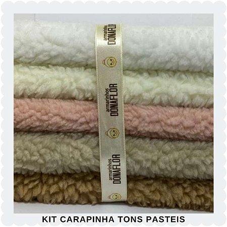 Kit  Carapinha Tons Pasteis  5Tecidos 30cmx70cm