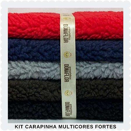 Kit  Carapinha Multicores Forte  5Tecidos 30cmx70cm