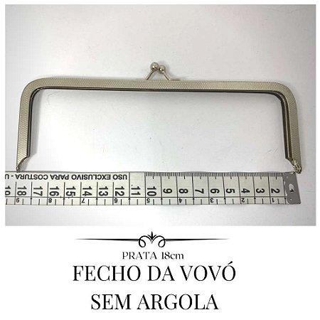 Fecho Da Vovó Prata Sem Argola  18cm