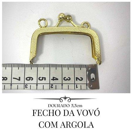 Fecho da Vovó Dourado com Argola  5,5cm