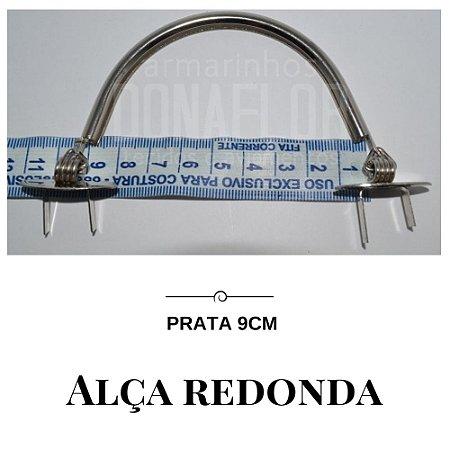 Alça Redonda Prata 9cm
