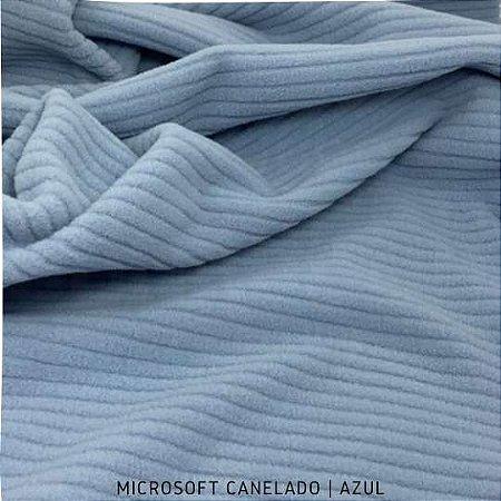 Microsoft Canelado Azul 50cmX1,60m